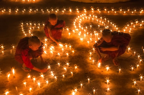 little Monks to jion candle festival